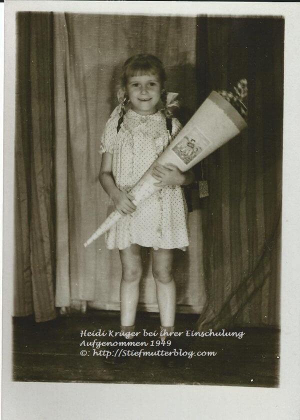 Einschulung Heidi Krüger 1949 001 copyright