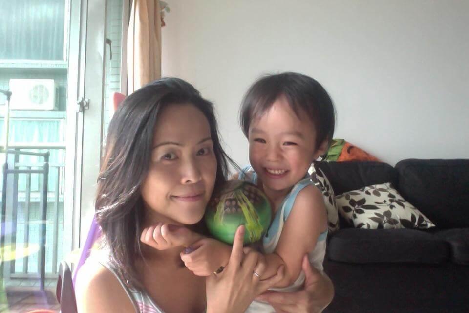 Mayumi und Sohn