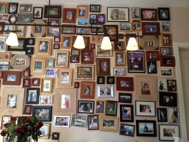 Die Fotowand in unserer Küche