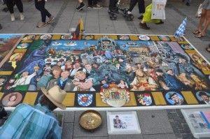 Straßenmaler in München. Foto: Stiefmutterblog.com
