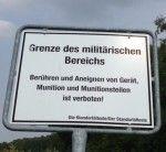 Grenze des militärischen Bereichs