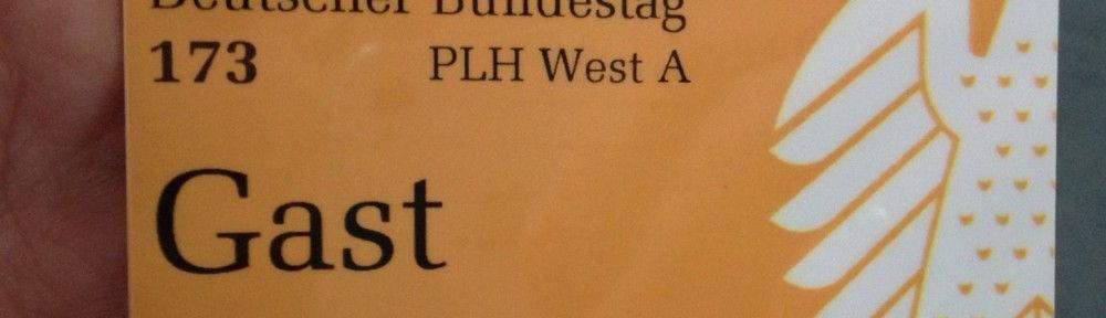 Mein Gastausweis im Bundestag