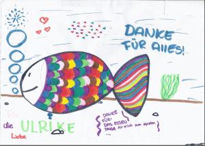 Dieses Bild hat Marie für Ulrike gemalt