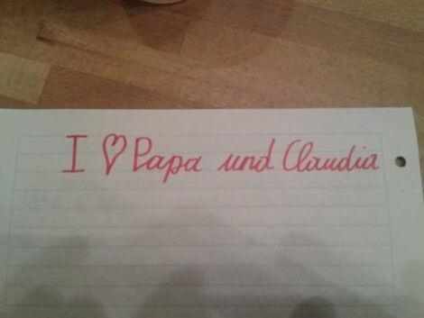 Für Claudia von ihrem Bonuskind